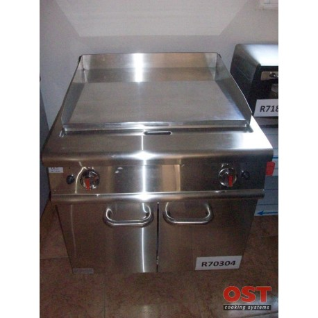 FRYTOP LISO ACERO PULIDO A GAS 12 KW 80X90X85