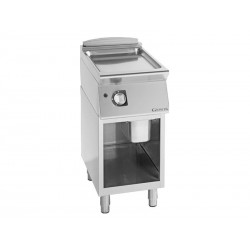 FRY-TOP A GAS LISO 900 PLACA Fe510 CON MUEB. 400MM